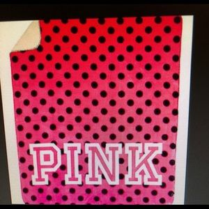 Vs pink polka dot Sherpa